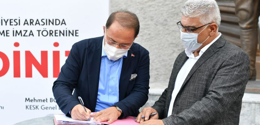 Beylikdüzü Belediyesi toplu iş sözleşmesine imza attı