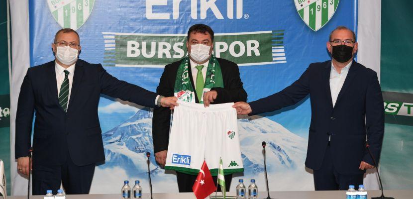 Erikli, #bizbizeyeteriz diyerek yola çıkan Bursaspor'un yanında yerini aldı