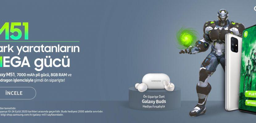 Galaxy M51, 7.000 mAh pil gücü, 8 GB RAM ve Snapdragon işlemcisiyle şimdi ön siparişte!